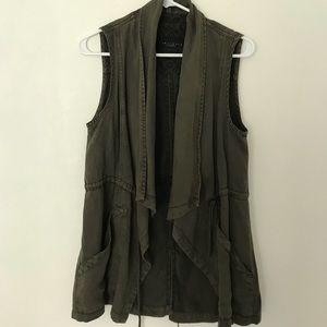 Sanctuary olive green vest/jacket size small